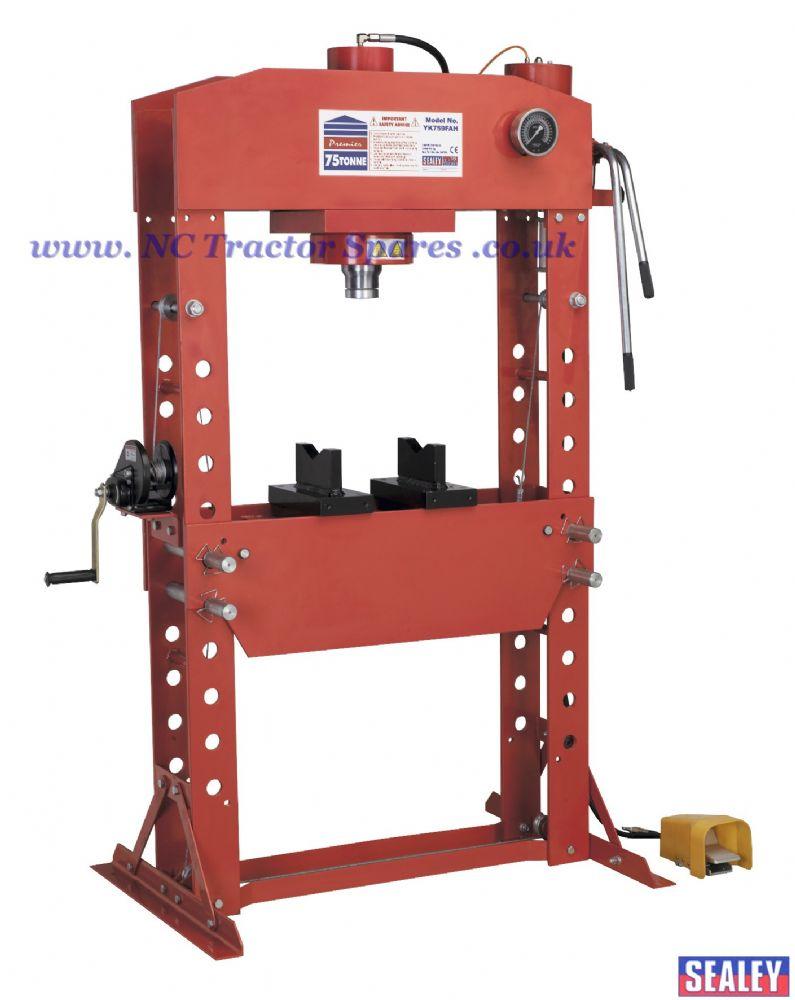 Air/Hydraulic Press 75tonne Floor Type with Foot Pedal